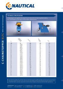 C-Chainstopper RLFC - Roller Lever Fall Chainstopper-technical-specifications